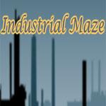 Juego de laberinto con temática industrial
